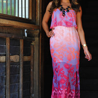 Sunrise Romance Maxi Dress: Neon Pink | Hope&#x27;s