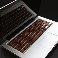 Wood Keys For Macbook & Apple Keyboard | The Gadget Flow