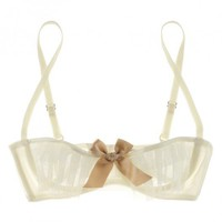Buy Lascivious Luxury Lingerie - Lascivious Kitty Cupless bra  | Journelle Fine Lingerie