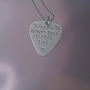 Stainless Steel Guitar Pick Necklace - Today a wife, forever your little girl - Handstamped gift dad brother father in law