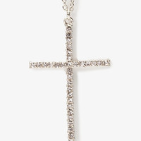 Pressed Rhinestone Cross Necklace | FOREVER 21 - 1027704985