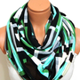 Striped Infinity Scarves, textile Neon,Black Scarf,Loop Scarf,Circle Scarf,Cowl Scarf,Nomad Cowl....Striped Scarf