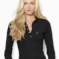 Cropped-Sleeved Big Pony Polo