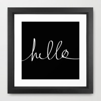Hello Framed Art Print by Leah Flores Designs