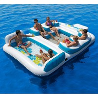 New Giant Inflatable Floating Island 6 Person Raft Pool Lake Float