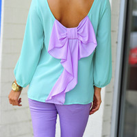 I Love You So Blouse: Mint/Lavendar | Hope&#x27;s