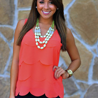 Jumping Jacks Tank Top: Coral | Hope&#x27;s