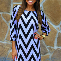 HOPE&#x27;S: Cheery For Chevron Dress: Purple | Hope&#x27;s