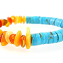Turquoise and Baltic Amber Stacking Bracelet / Spring Summer Fashion / On Trend Statement Bracelet / Natural Untreated Arizona Turquoise