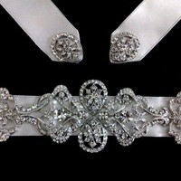 High Fashion Swarovski Bridal Dress Sash, Victorian Art Deco Belt - MEREDITH | yjdesign - Wedding on ArtFire