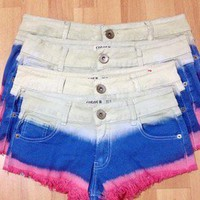 beautycall — Fringed denim shorts