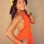 &#x27;Nightingale&#x27; Lace Detail Halter Dress (Orange)