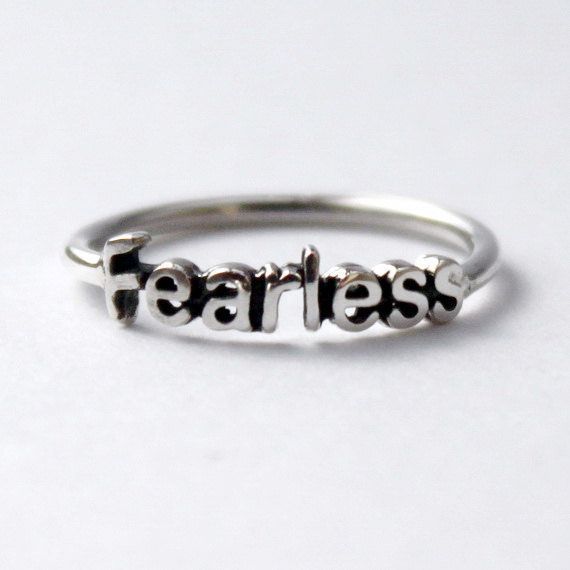 Fearless Ring Sterling silver with poetic by HeartCoreDesign