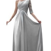 Amazon.com: Kingmalls Womens A-line Silver Grey long sleeves mother of the bride Gowns Evening Party Dresses (XX-Large): Clothing