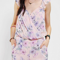 Lucca Couture Chiffon Surplice Romper