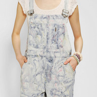 Urban Renewal Marble Denim Overall Short