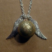 Snitch Locket Necklace Harry Potter Inspired by trophies on Etsy
