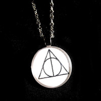 Small Deathly Hallows Symbol Necklace by trophies on Etsy