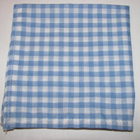Mens Pocket Square Blue &amp; White by natnwillies on Etsy