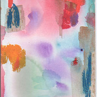 Original Watercolor Painting On Paper - Abstract Art, Pretty Little Mess by Rina Miriam Drescher