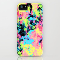 Blacklight Neon Swirl iPhone & iPod Case by Caleb Troy