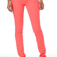 Olivia Low-Rise Melon Twist Jegging