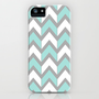 Minty Chevron iPhone &amp; iPod Case by Beth Thompson