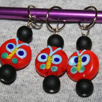 Bugsy Knitting Stitch Markers | LazyHCreations - Knitting on ArtFire