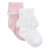 Starting Out Infant Eyelet Lace Socks 2-Pack | Dillards.com