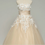 Custom make Vintage Wedding Dress A LINE Strapless by wonderxue