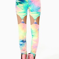 Color Trip Garter Leggings