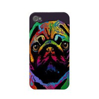 Pug Love iPhone 4 Case from Zazzle.com
