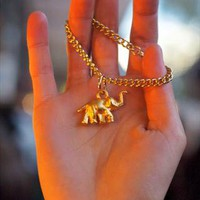 Gold Plated Elephant Bracelet  from Mu Du