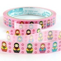 Kawaii Sticker Deco Tape  Matryoshka Russian Dolls by charmstore