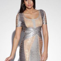 Bqueen U-neck Bandage Dress H443