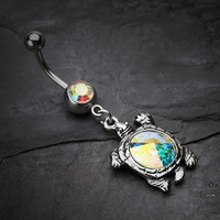 Turtle Gem Belly Button Ring