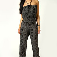 Jenna Bandeau Tribal Jumpsuit