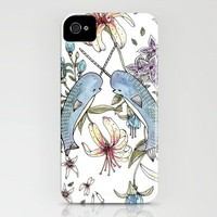 Narwhal pattern iPhone Case by Brooke Weeber | Society6