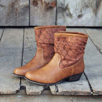 Laced Path Boots, Sweet Rugged Boots