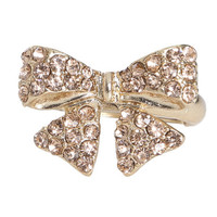 Bling Ribbon Bow Ring | Shop Jewelry at Wet Seal