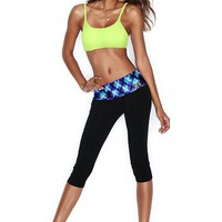 Bling Foldover Yoga Crop Legging
