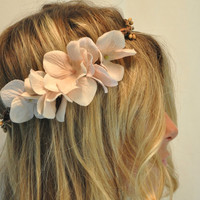 Flower Hair Crown, Bohemian Flower Halo, Woodland Hair