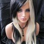 SHOP-WIDE SALE Rocker Chic / Black and Blonde / Long Straight Layered Wig