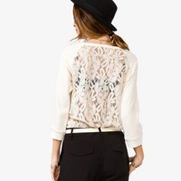 Lace Paneled Pullover