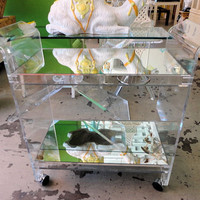 LUCITE Bar Cart | CIRCA WHO