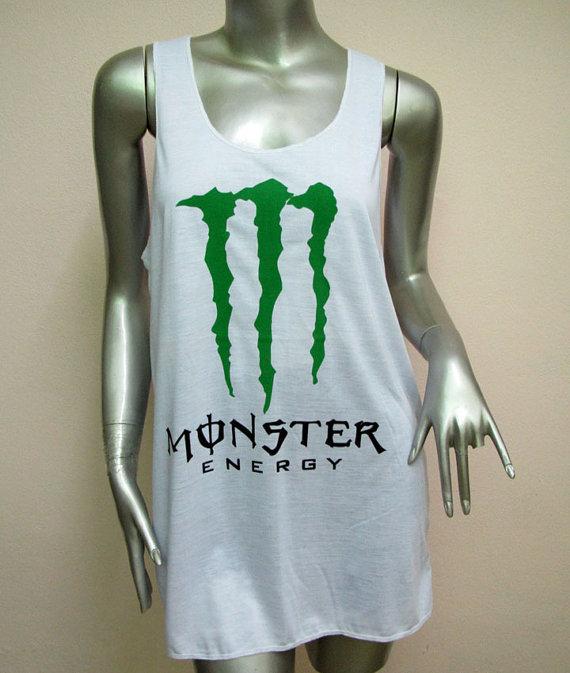 monster energy t shirt women shirt tank from. Black Bedroom Furniture Sets. Home Design Ideas