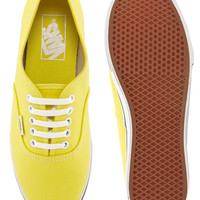 Vans Authentic Lo Pro Yellow Trainers