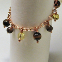 Fun and Flirty Dangles Yellow and Brown by LaraJordanJewelry