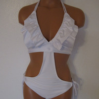 Mini ruffle monokini