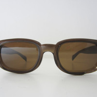 50s Cool Distressed Sunglasses w/ Brown by YearsSinceYesterday
